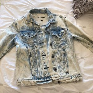 Jean Jacket with acid wash and distressing